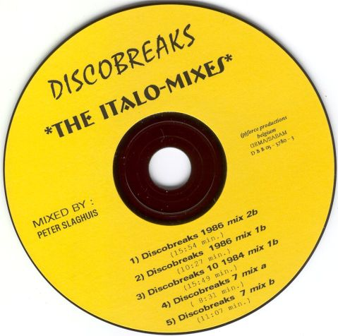 Discobreaks : The Italo Mixes by Peter Slaghuis: BACKUP CD