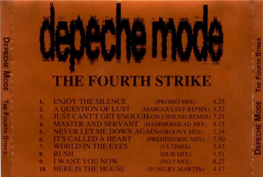 DEPECHE MODE the 4th strike - mixes: BACKUP CD