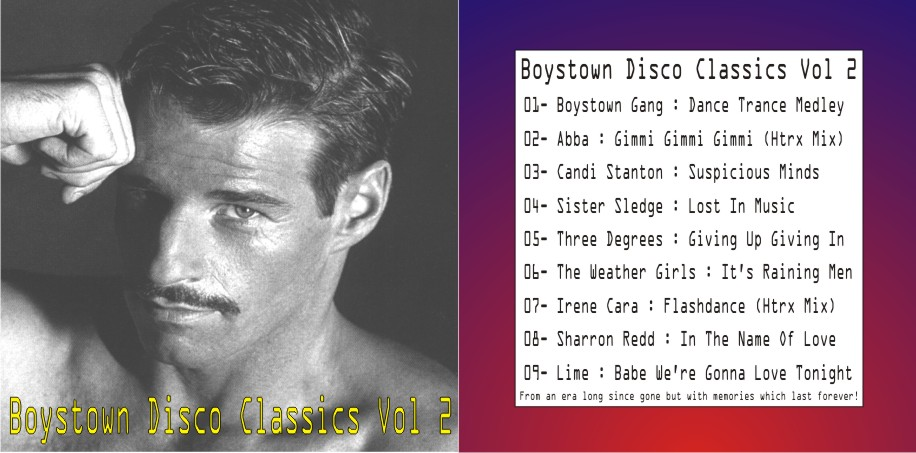 Boystown Disco Classics Vol 02: BACKUP CD