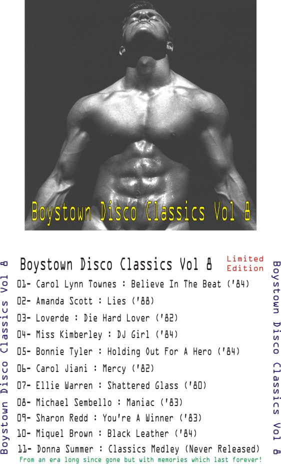 Boystown Disco Classics Vol 08: BACKUP CD