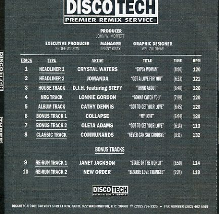 Discotech Vol 03: BACKUP CD