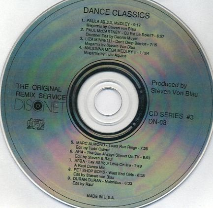 Disconet Dance Classics Vol 3: BACKUP CD