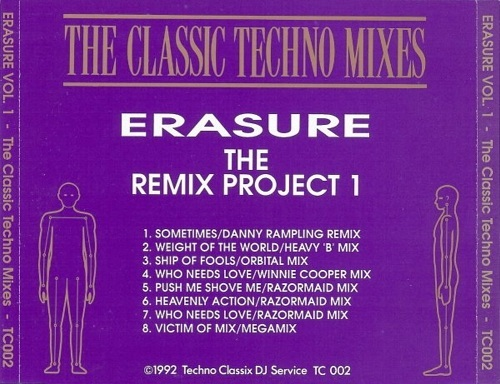 Erasure The Remix Project The Techno Mixes: BACKUP CD