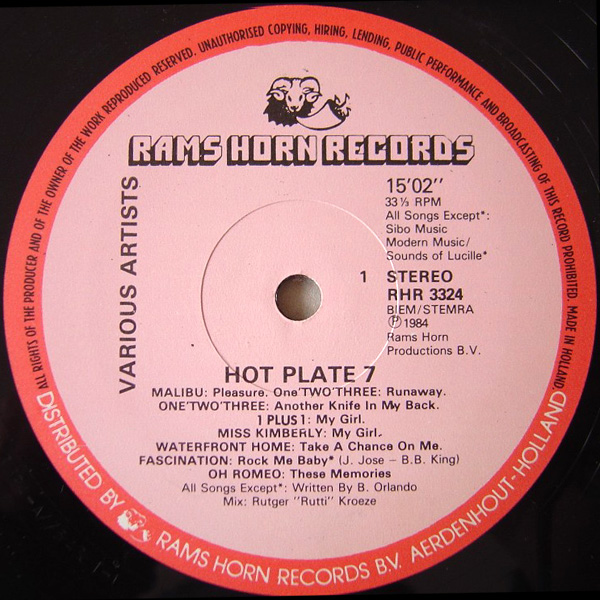 Hot Plate Medley Disco Collection Cd2: BACKUP CD