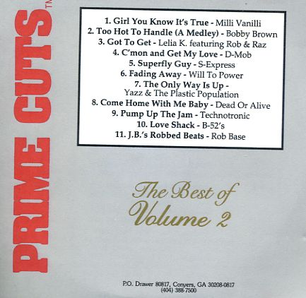 Prime Cuts Best Of Vol 2: BACKUP CD