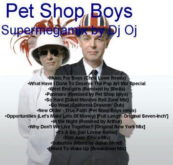 PET SHOP BOYS - Dj Oj Megamix: BACKUP CD