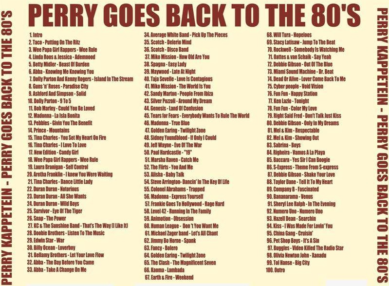 Perry Goes Back To The 80's: BACKUP CD