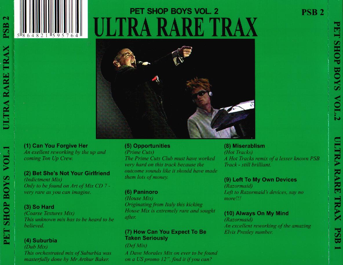 PET SHOP BOYS - Ultra Rare Remixes Vol 2: BACKUP CD