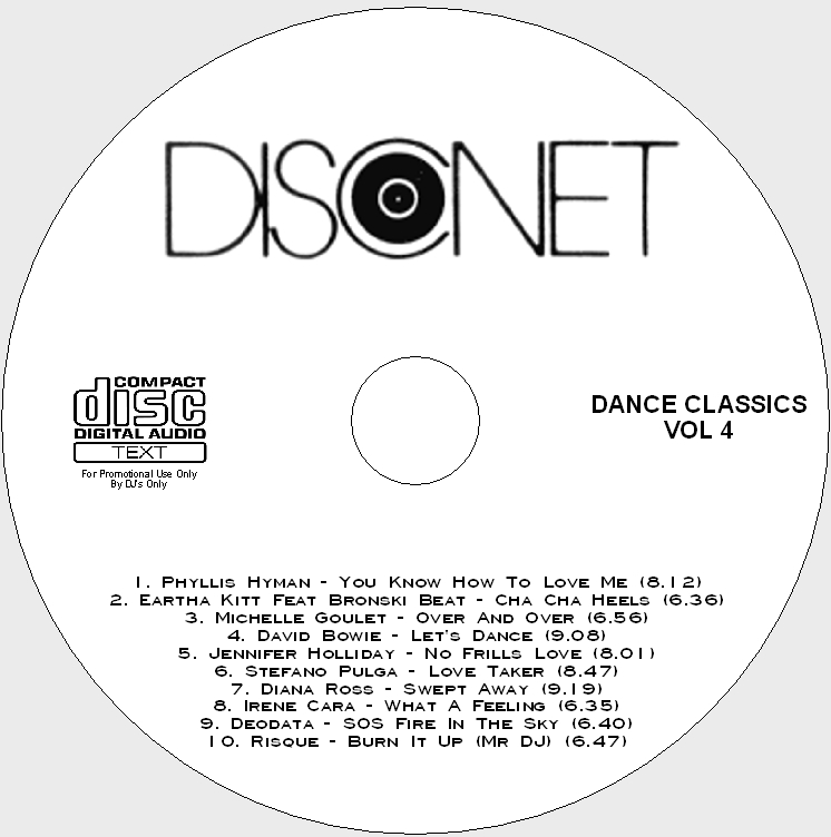 Disconet Dance Classics Vol 4: BACKUP CD