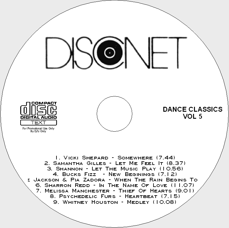Disconet Dance Classics Vol 5: BACKUP CD