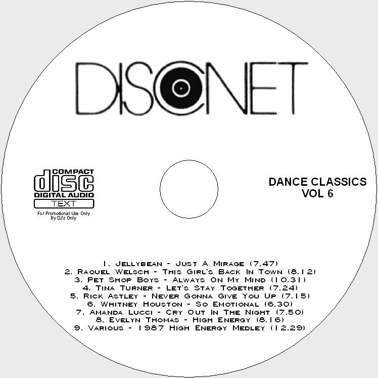 Disconet Dance Classics Vol 6: BACKUP CD - Click Image to Close