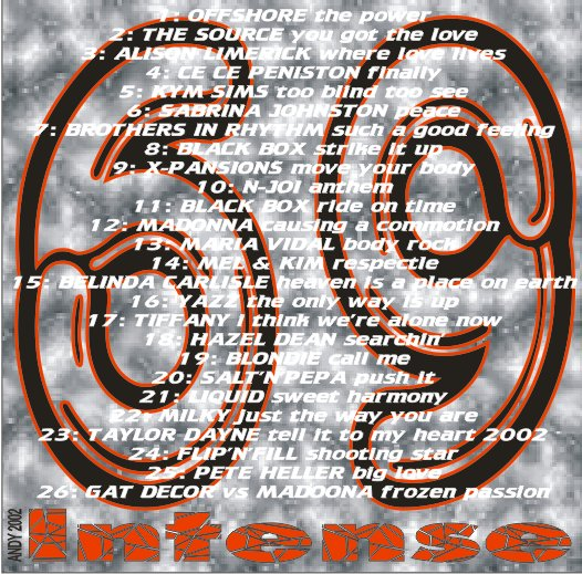 Intense Promo Service CD Vol 69: BACKUP CD