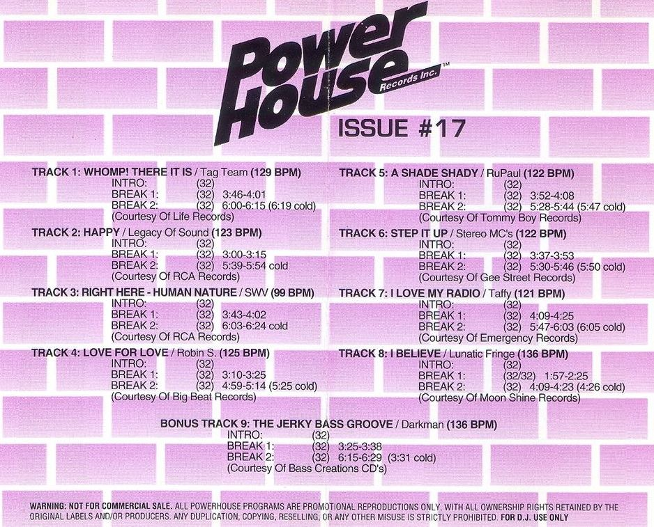 Powerhouse Vol 17: BACKUP CD