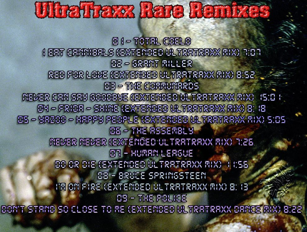 Rare Remixes Vol 155: Ultratraxx BACKUP CD