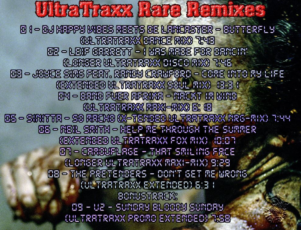 Rare Remixes Vol 154: Ultratraxx BACKUP CD